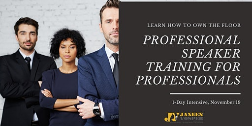 Professional Speaking Training for Professionals