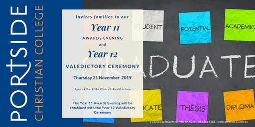 Portside Yr 11 Awards & Yr 12 Valedictory Ceremony