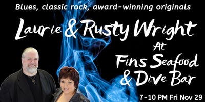 Laurie & Rusty Wright at Fins Seafood & Dive Bar