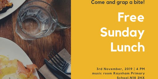Free Sunday Lunch Event