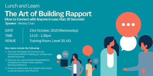 TMIM LUNCH & LEARN: THE ART OF BUILDING RAPPORT