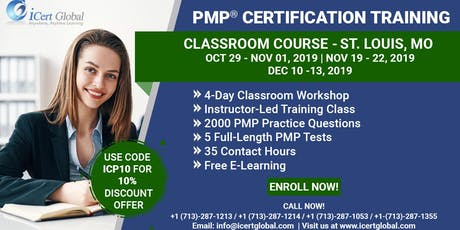 PMP Exam Prep Certification Training Classroom Course in St. Louis, MO. tickets