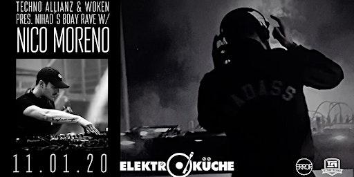Techno Allianz & Woken Pres. Nihad's B-day Rave w/ Nico Moreno