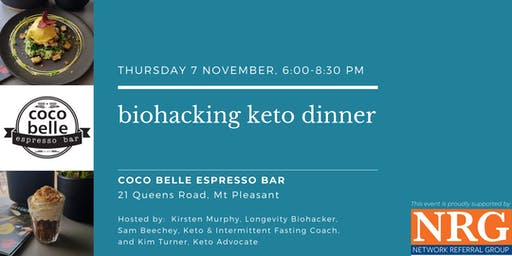 Biohacking Keto Dinner at Coco Belle