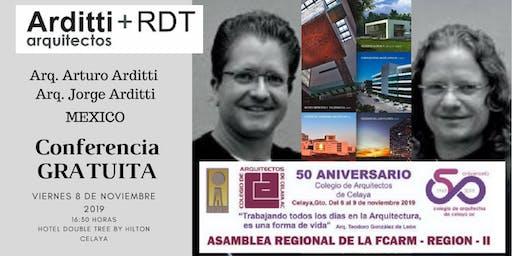 CONFERENCIA    ARDITTI + RDT Arquitectos    MEXICO