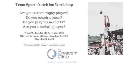 """Team Sports"" Nutrition Workshop"