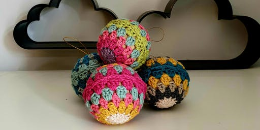Learn to Crochet at John Lewis Bluewater - Beginners Christmas Baubles