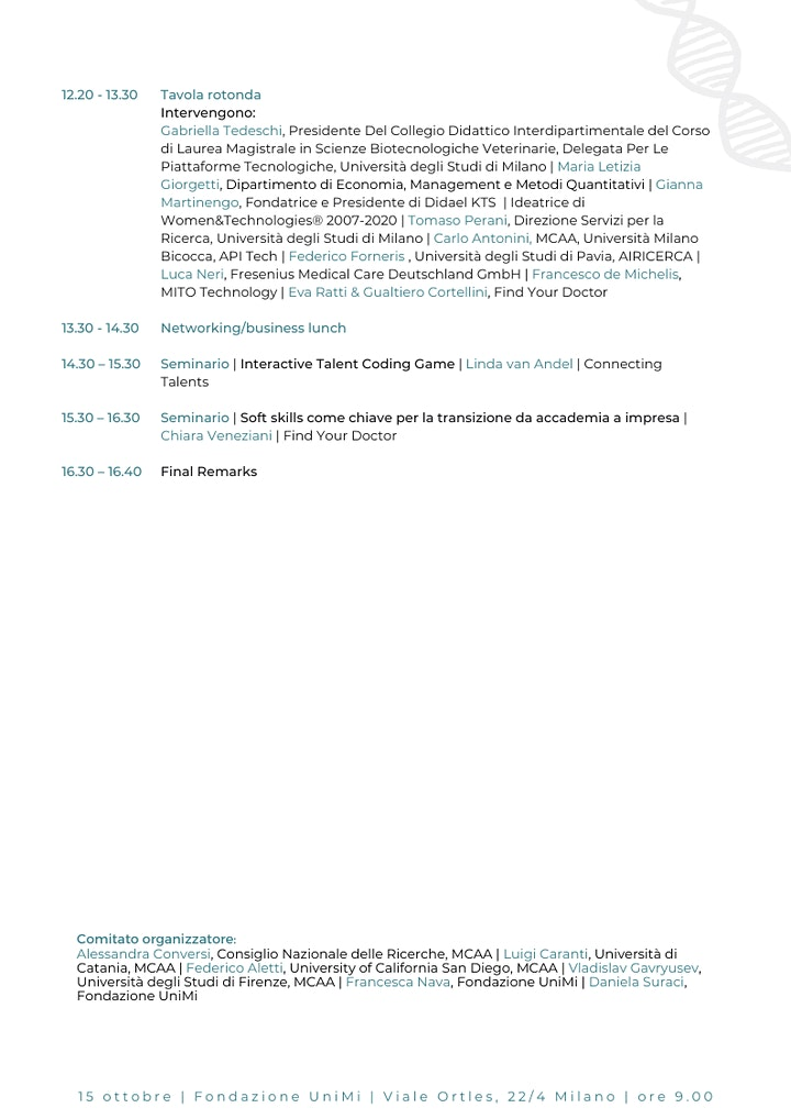Immagine Marie Curie Alumni Association   Italy Chapter  Networking Day