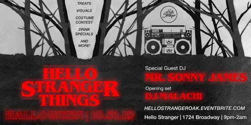 Hello Stranger Things - A Very Special Halloween Party feat. Sonny James