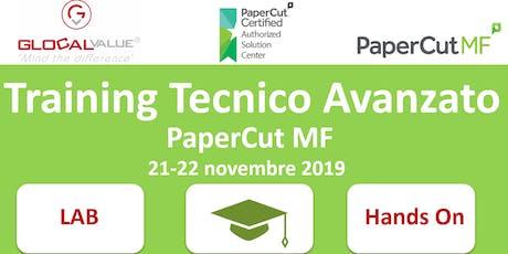 Iscrizione Training tecnico avanzato PaperCut MF (a pagamento) biglietti