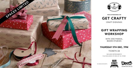 Get Crafty - Christmas Gift Wrapping Workshop tickets