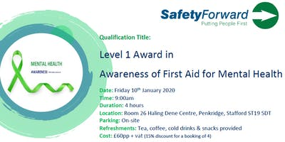 Level 1 Award in Awareness of First Aid for Mental Health