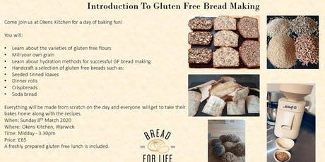 Introduction to Gluten Free Bread Making tickets