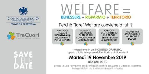 Welfare = Benessere + Risparmio + Territorio
