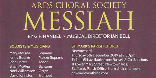 Ards Choral Society presents Handels Messiah 2019