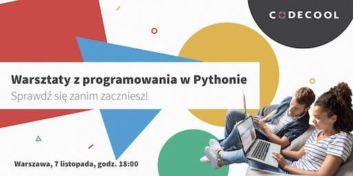 Warsztaty z programowania w Pythonie. Sprawdź się zanim zaczniesz!