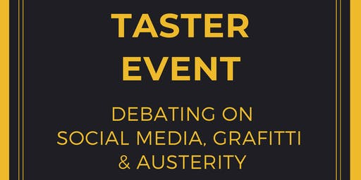 Taster Event - Open Debate (Students Only)