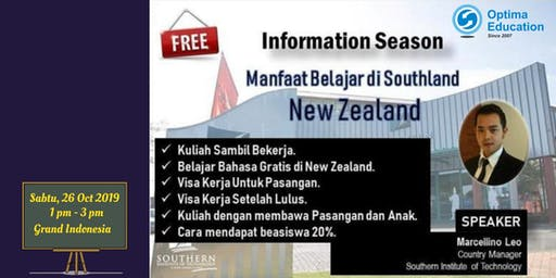 INFO SESSION KULIAH KERJA DAN TINGGAL DI NEW ZEALAND