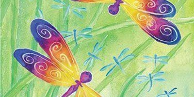 Paint Night in Canberra: Dragonflies