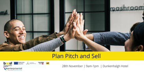 Plan, Pitch and Sell tickets