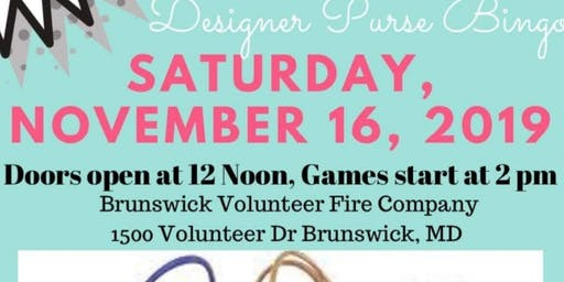 Brunswick Fire Dept Designer Purse Bingo