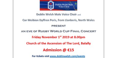 Eve of Rugby World Cup Final Concert tickets