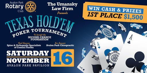 Rotary Club of Avalon Park 2nd Annual Poker Tournament