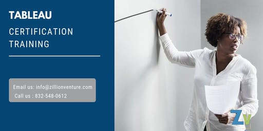 Tableau Certification Certification Training in Chicago, IL
