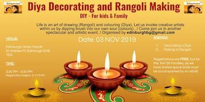 Diya Decorating and Rangoli Making