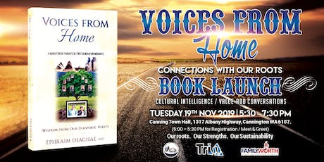 Valued Conversations / Book Launch: Voices from Home, Wisdom from Our Roots tickets