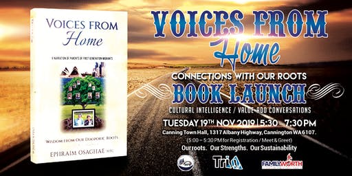 Valued Conversations / Book Launch: Voices from Home, Wisdom from Our Roots