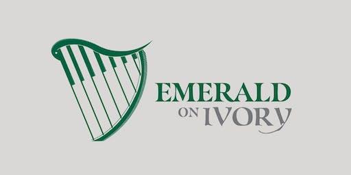 Emerald on Ivory