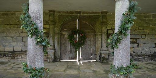 Christmas Wreath Workshops in Godolphin House