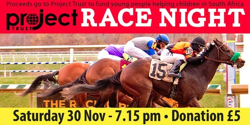 REBECCA'S SOUTH AFRICA FUNDRAISER RACE NIGHT