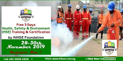 Free 3-days HSE Training In Benin City, Edo State