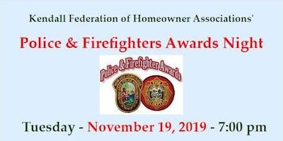 Annual KFHA Police & Firefighters Awards Night
