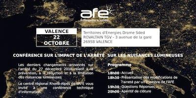 AFE 26/11 : Conférence technique d'information sur les derniers changements de  l'arrêté sur les nuisances lumineuses