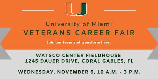 Veteran's Career Fair at University of Miami