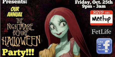 Our Annual Nightmare Before Halloween Party! tickets