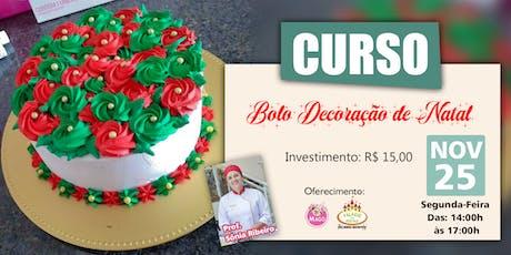 CURSO BOLO DECORAÇÃO DE NATAL ingressos