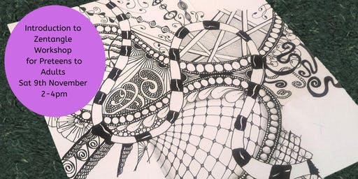 Introduction to Zentangle (Step 1) - Two Hour Preteen to Adult Workshop