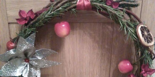 Festive willow wreath making