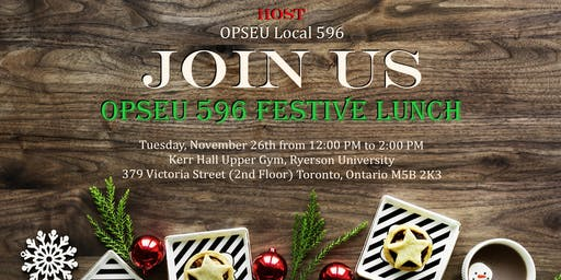 2019 - OPSEU LOCAL 596 - Festive Lunch