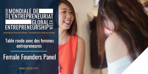 Table ronde avec des femmes entrepreneures | Female Founders Panel