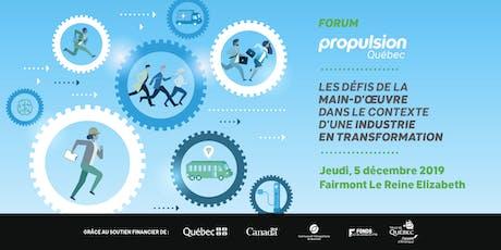 Forum Propulsion Québec billets