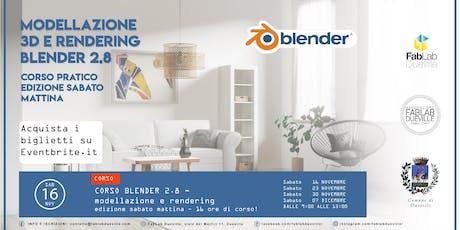Corso Blender 2.8 - edizione sabato mattina tickets