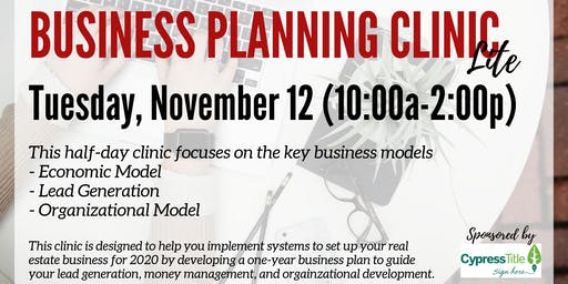 Business Planning Clinic Lite