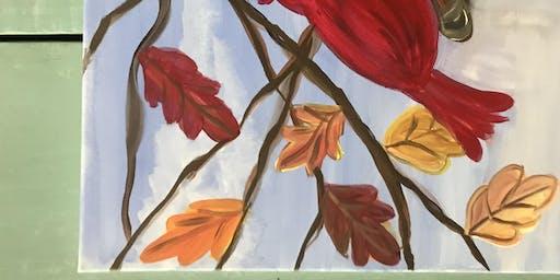 Fall Cardinal Paint Night