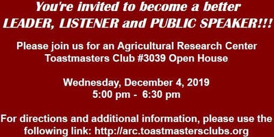 2019 Agricultural Research Center Toastmasters Open House!