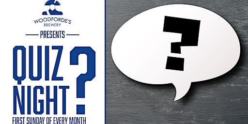 Woodforde's Presents: Monthly Quiz Night